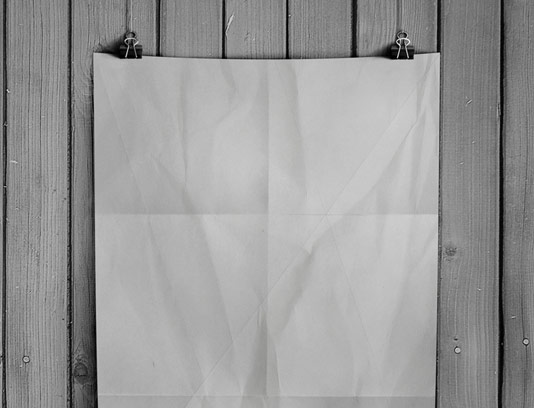 طرح لایه باز موکاپ پوستر سیاه و سفید
