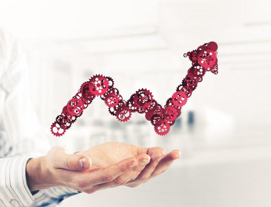 عکس با کیفیت نمودار پیشرفت کسب و کار مفهومی