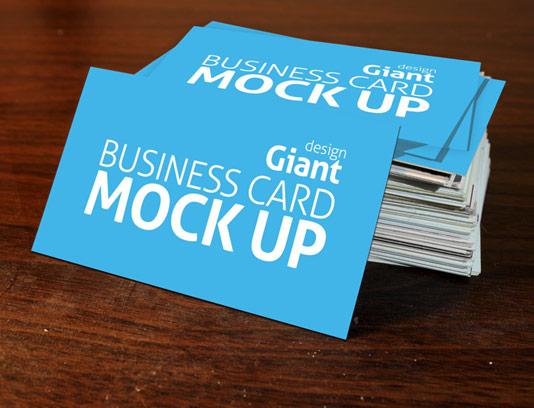 طرح لایه باز موکاپ کارت ویزیت دو طرفه شماره ۰۵