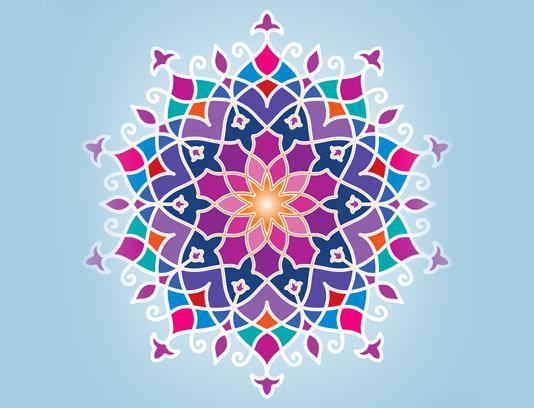 وکتور طرح پترن دورانی سنتی عربی