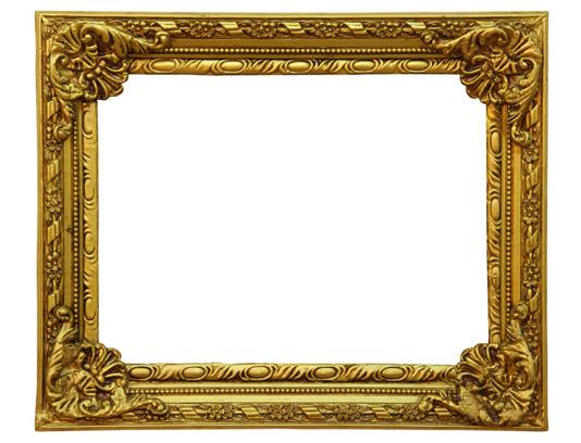 عکس با کیفیت قاب عکس قدیمی طلایی رنگ