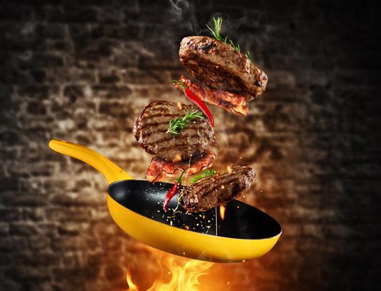 عکس با کیفیت همبرگر گوشت گریل شده