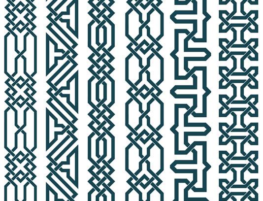 وکتور طرح المان و نماد های کادر اسلامی شماره 07