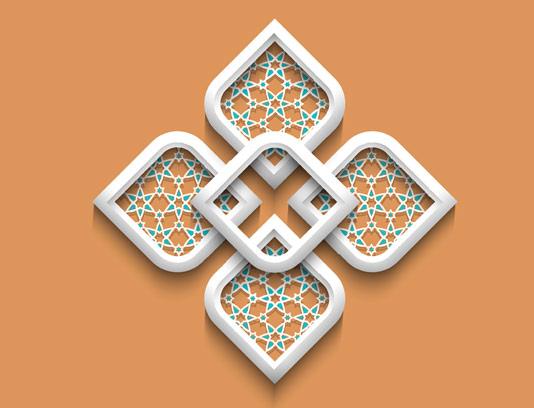 وکتور طرح المان و نماد اسلامی شماره ۰۹