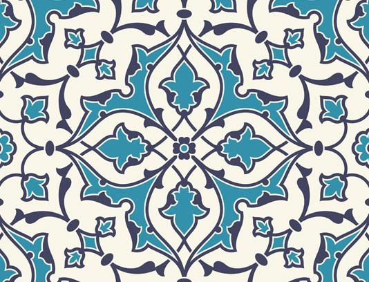 وکتور طرح کاشی کاری اسلامی شماره ۷۱