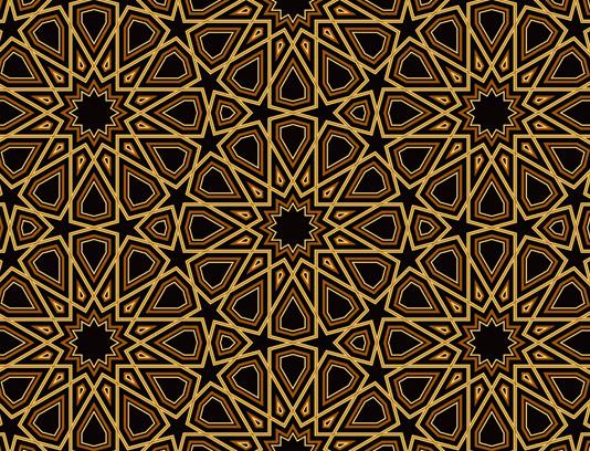 وکتور طرح کاشی کاری اسلامی شماره ۷۲