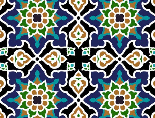 وکتور طرح کاشی کاری اسلامی شماره 73