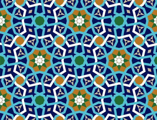 وکتور طرح کاشی کاری اسلامی شماره 75