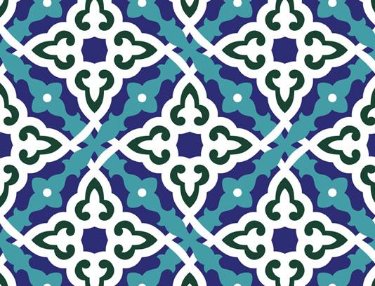 وکتور طرح کاشی کاری اسلامی شماره ۷۹