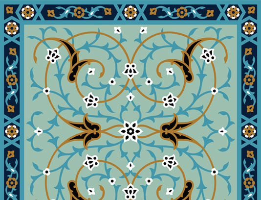 وکتور طرح کاشی کاری اسلامی شماره ۸۰