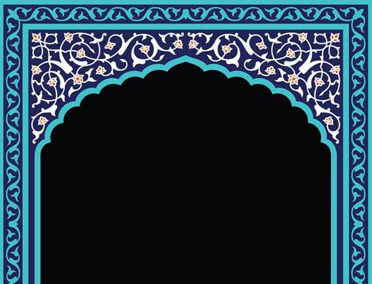 وکتور طرح کاشی کاری اسلامی شماره ۸۳