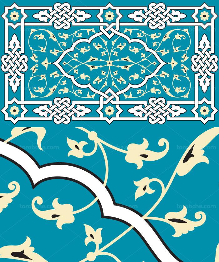 وکتور طرح کاشی کاری اسلامی شماره ۸۴