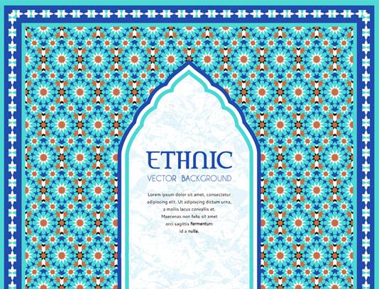 وکتور طرح کاشی کاری اسلامی شماره 86