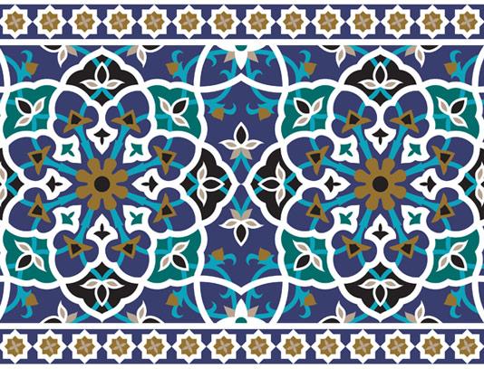 وکتور طرح کاشی کاری اسلامی شماره ۸۸