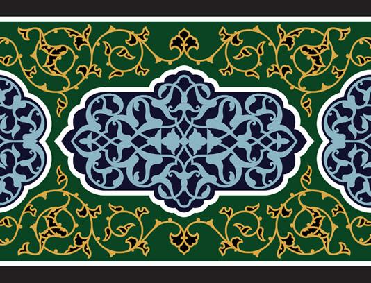 وکتور طرح کاشی کاری اسلامی شماره ۸۹