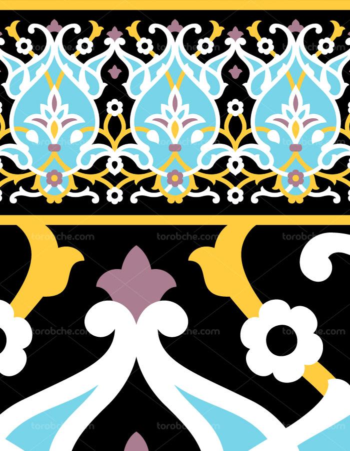وکتور طرح کاشی کاری اسلامی شماره ۹۰