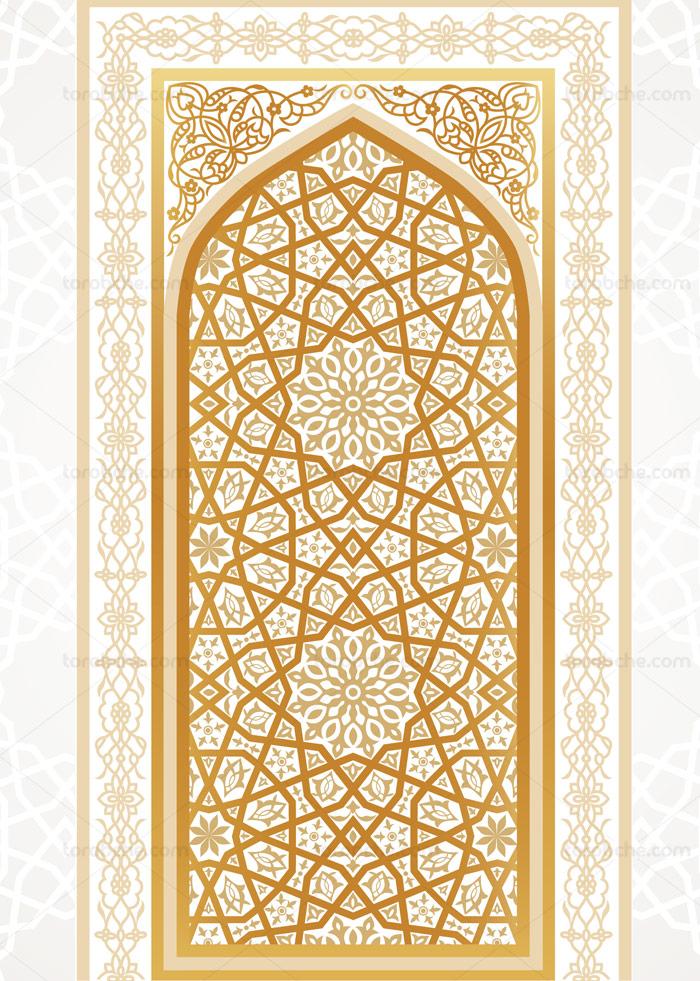 وکتور طرح اسلیمی محراب مسجد شماره 03 گرافیک با طعم تربچه