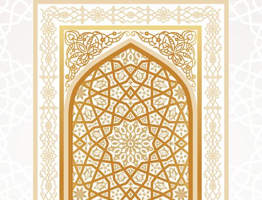 وکتور طرح اسلیمی محراب مسجد شماره ۰۳