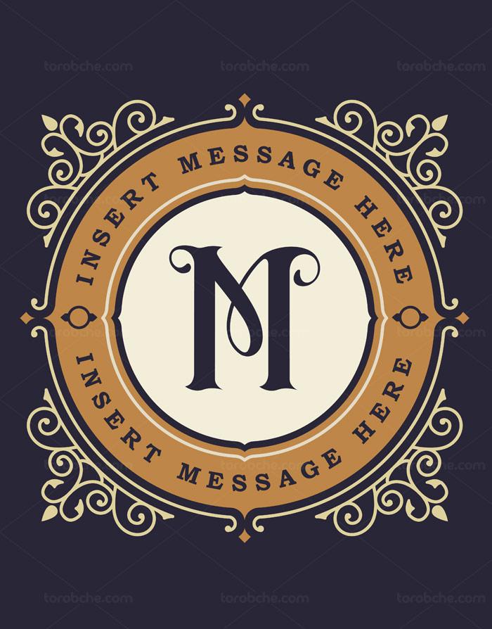 وکتور طرح لوگوی مونوگرام شماره ۱۰