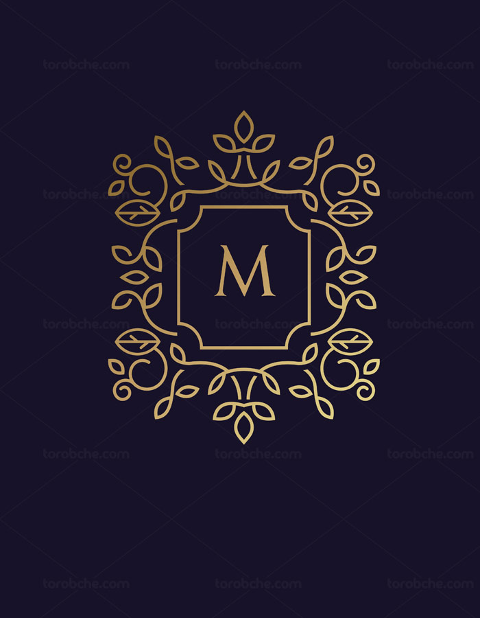 وکتور طرح لوگوی مونوگرام لاکچری شماره ۱۲