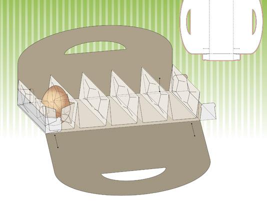 وکتور لایه باز طرح صفحه گسترده و بسته بندی جعبه تخم مرغ