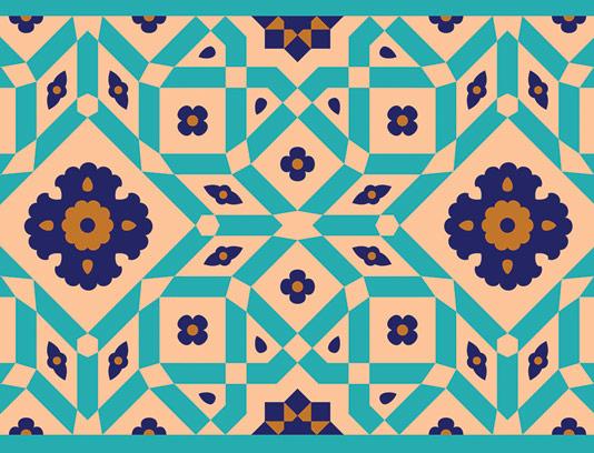 وکتور طرح کاشی کاری اسلامی شماره 93