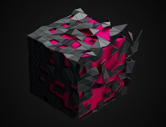 عکس با کیفیت زمینه مربع سه بعدی انتزاعی