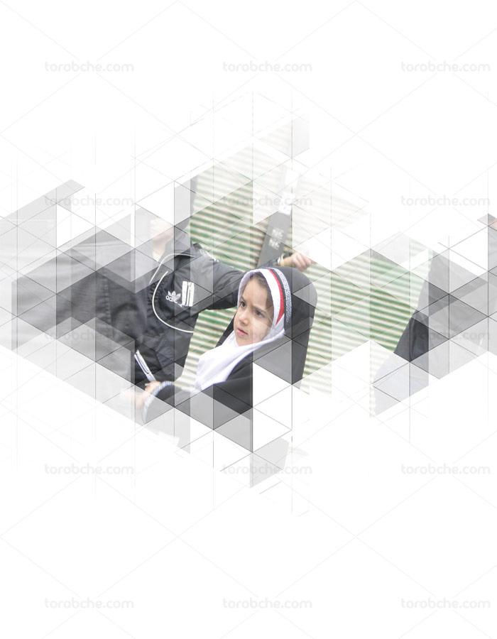 طرح لایه باز قاب عکس دیجیتال انتزاعی شماره ۰۱