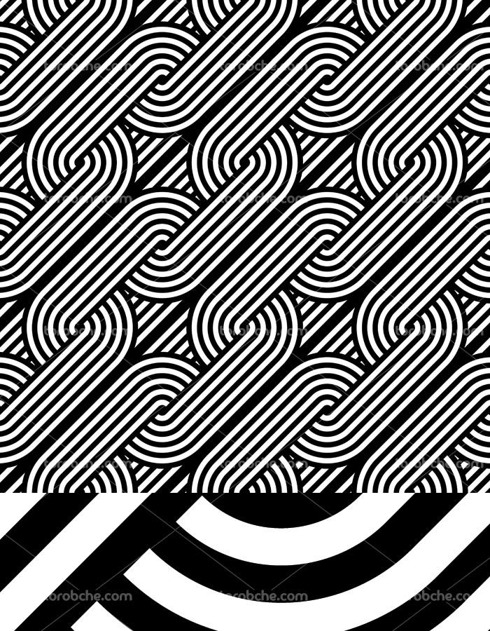 وکتور طرح پترن سیاه و سفید شماره ۰۱