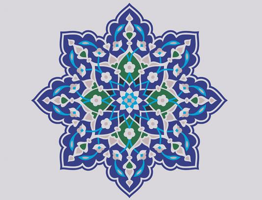 وکتور طرح کاشی کاری اسلامی شماره ۱۰۴