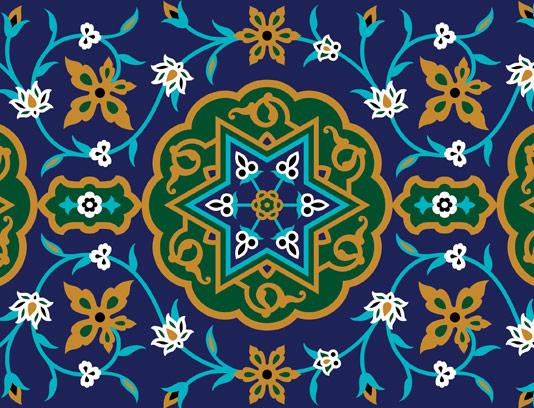 وکتور طرح کاشی کاری اسلامی شماره ۱۰۵