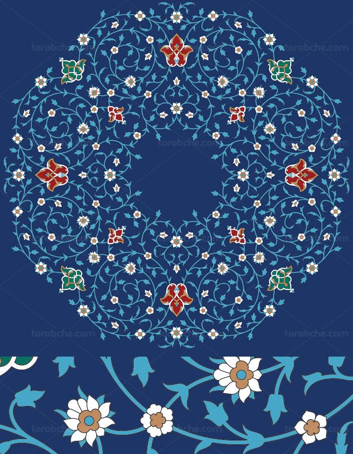 وکتور طرح کاشی کاری اسلامی شماره ۱۰۶