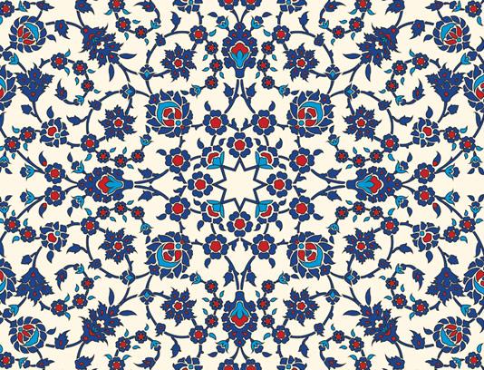 وکتور طرح کاشی کاری اسلامی شماره ۱۰۷