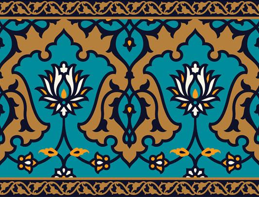وکتور طرح کاشی کاری اسلامی شماره ۱۱۰