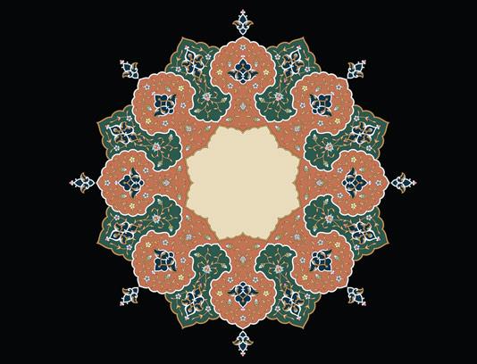 وکتور طرح کاشی کاری اسلامی شماره 94