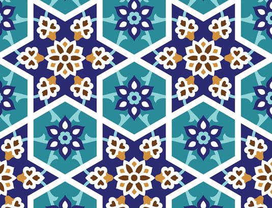 وکتور طرح کاشی کاری اسلامی شماره 96