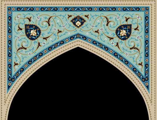 وکتور طرح محراب مسجد شماره ۰۴