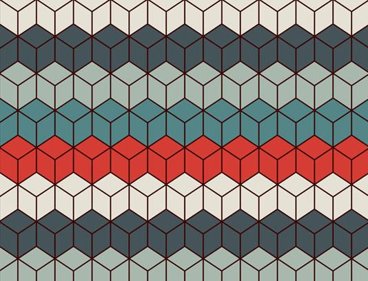 وکتور طرح پس زمینه انتزاعی مکعب های رنگی