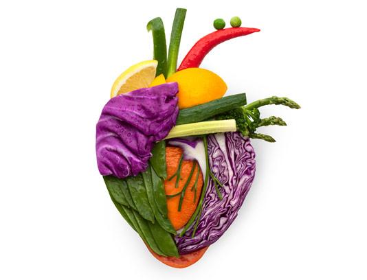 قلب میوه ای با سبزیجات اضافه