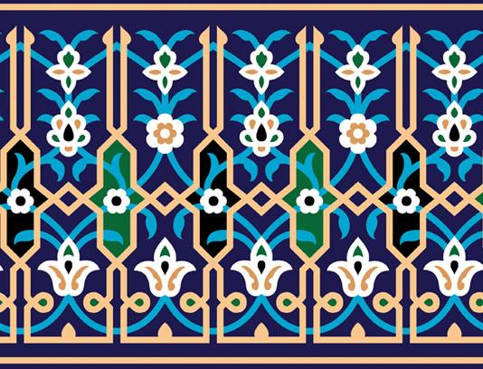 وکتور طرح کاشی کاری اسلامی شماره ۱۰۱