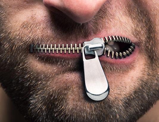 تصویر با کیفیت کسب و کار مفهومی بسته شدن زیپ دهان