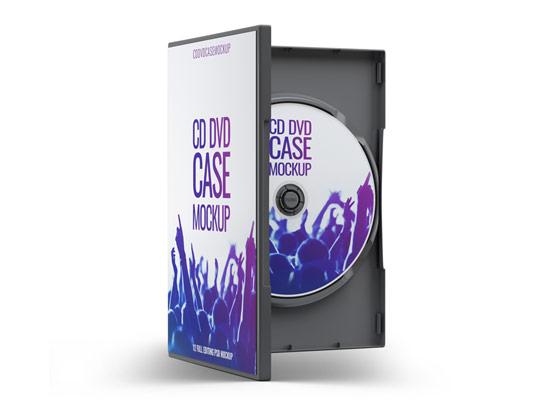 طرح لایه باز موکاپ قاب و لیبل DVD شماره ۰۲