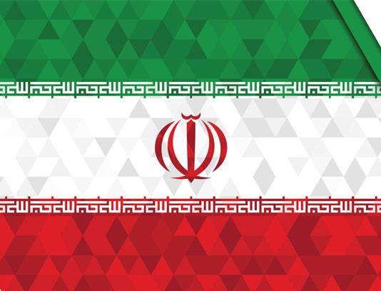 وکتور طرح انتزاعی پرچم ایران