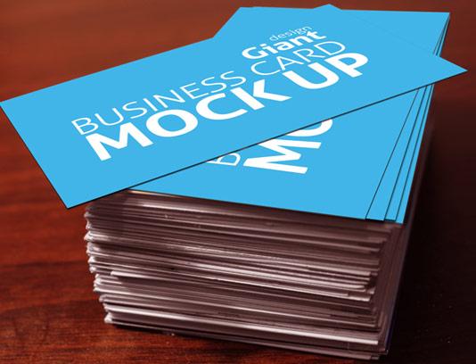 طرح لایه باز موکاپ کارت ویزیت دو طرفه شماره ۰۷