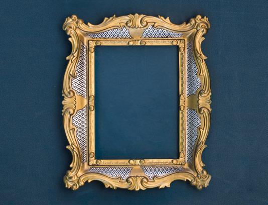 طرح قاب عکس طلایی با حاشیه نقره ای