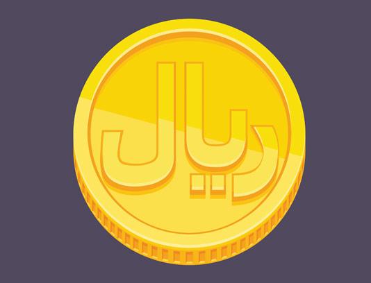 وکتور طرح سکه ی طلای ریال