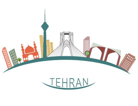 وکتور طرح مکان های دیدنی تهران