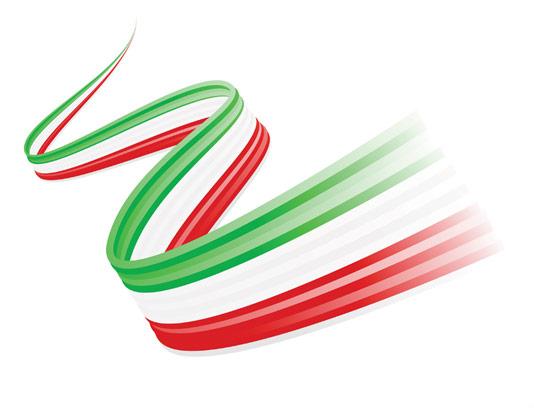 وکتور نوار سه رنگ پرچم ایران