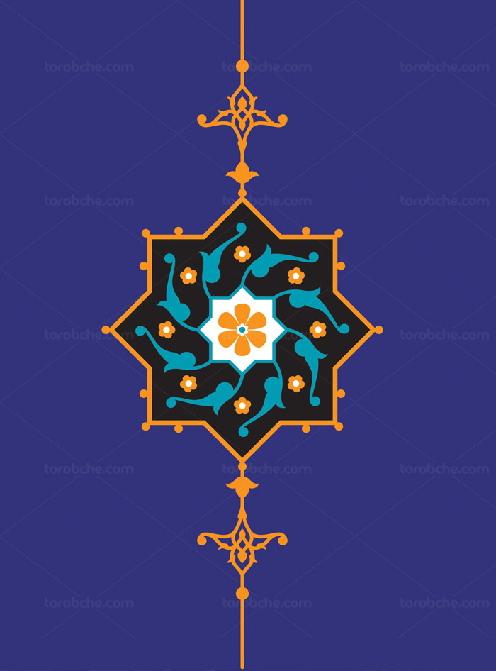وکتور طرح المان و نماد اسلامی شماره ۱۳
