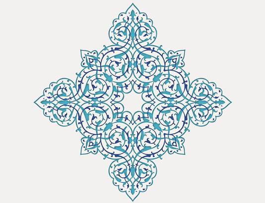 وکتور طرح نماد و المان اسلامی شماره ۱۹